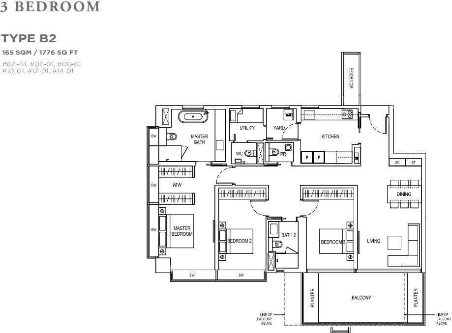 Boulevard 88 Typical Floor Plans And Units Mix